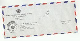 UN In PANAMA  UNDP To  UN NY USA  United Nations Cover - Panama