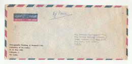 SRI LANKA Via DIPLOMATIC BAG 'Pouch' COLOMBO  To UN NY USA  United Nations Cover University - Sri Lanka (Ceylon) (1948-...)