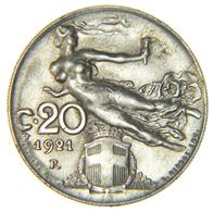 [NC] ITALIA - REGNO - VITTORIO EMANUELE III - 20 LIBERTA' LIBRATA 1921 - 1861-1946 : Regno