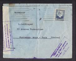 ENVELOPPE GUERRE ESPAGNE Cachet De Censure 1936 Deoartamiento De Investigacion Correspondencia BARCELONA - Bolli Di Censura Repubblicana