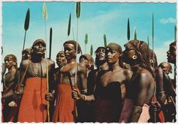 [208] SAMBURU DANCERS. - Ethnology, Etnología, Etnologia, Ethnologie.- Unwrite / Non écrite / No Escrita / Non Scritta. - Kenia
