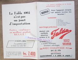 """Brochure """"Machine à Laver """"Falda"""" - Old Paper"""