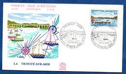 Enveloppe Premier Jour / N 666 / La Trinité Sur Mer /   15 Février 1969 - 1960-1969