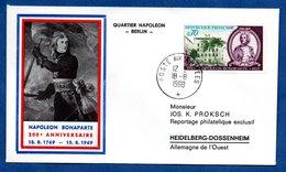 Enveloppe Premier Jour / 200 ème Anniv Napoléon Bonaparte / Poste Aux Armées  /   18 Août 1969 - FDC