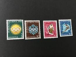 20333 - Suisse /Schweiz/Svizzera/Switzerland //1948 // Timbres ** Jeux Olympiques St.Moritz 1948** - Invierno 1948: St-Moritz