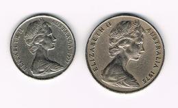 &-   AUSTRALIE   10 + 20 CENTS  1977/1975 - 20 Cents