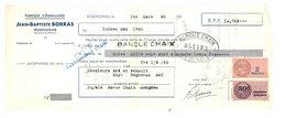 Vieux Papier Pub - J.B. Borras, Rognonas, Emballages, ... Banque Chaix Avignon, Timbres Fiscaux - Publicités