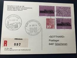 20334 - Suisse Gottard Dampflock C 51-66 Der GB  6780 Airolo  Pour 6487 Göschenen 24.05.1982 - Trains