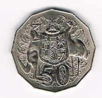 &-  AUSTRALIE  50 CENTS  1972 - Monnaie Décimale (1966-...)