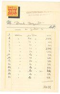 Vieux Papier Rognonas Facture, Huile Shell Motor Oil / Gontier Denis, Essences - 1950 - ...