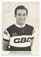 Carte Publicitaire Domenico De Lillo Coureur Cycliste Wielrenner Cyclisme Cycling Ciclismo Autographe - Cycling
