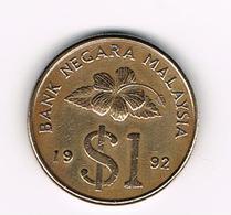&-    MALAYSIA  1  RINGGIT 1992 - Malaysie