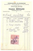 Vieux Papier Rognonas Facture Zinguerie Plomberie, Marius Bernard, Timbres Fiscaux - 1950 - ...