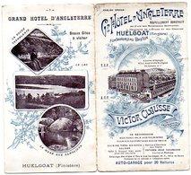 29 - HUELGOAT - Dépliant GRAND HÖTEL D'ANGLETERRE - Huelgoat