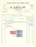 Vieux Papier Rognonas Facture Papeterie Du Pont Neuf, Maison E. Trouche, Papiers En Gros, Timbres Fiscaux - 1950 - ...