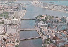 RECIFE PE. VISTA AERA DOCENTRO. RIO CAIBARIBE. EDICARD. VOYAGE. CIRCA 1970's- BLEUP - Recife