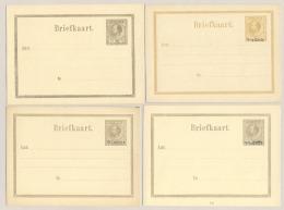 Suriname - 1876/9 - 4 Ongebruikte Briefkaarten - Not Used - Suriname ... - 1975