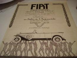ANCIENNE PUBLICITE VOITURE FIAT 1922 - Automobili