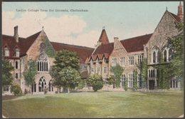 Ladies College From The Grounds, Cheltenham, Gloucestershire, 1910 - Boots Pelham Postcard - Cheltenham