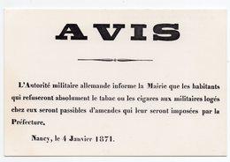CPM - MUSEE DE L'AFFICHE ET DU TRACT - LES MURAILLES DE FRANCE PENDANT LA GUERRE DE 1870/71 - Otras Guerras