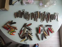 IMPORTANT LOT DE CANIFS ET DIVERS ,,, Environs 70 Piéces,tout Est Scannés - Knives/Swords