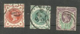 Grande-Bretagne N°91 à 93 Cote 5 Euros - Usati