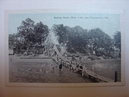 CPA USA - BATHING BEACH SILVER LAKE NEAR OCONOMOWOC WISCONSIN - TOBOGAN PLAGE SLIDE - Etats-Unis