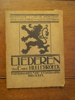 OUD           Boek Met Versjes Der Beste Vlaamsche Dichters Door EMIEL HULLEBROECK Op Muziek Gezet - Poésie