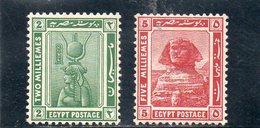EGYPTE 1920-2 * - 1915-1921 Protectorat Britannique