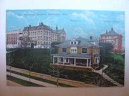 CPA USA - THE MILWAUKEE HOSPITAL MILWAUKEE WISCONSIN WIS - RECTORY & LAYTON HOME - E.C. KROPP CO - HOPITAL - Milwaukee