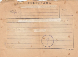 72322- TELEGRAMME SENT FROM CLUJ NAPOCA TO BAIA MARE, 1960, ROMANIA - Télégraphes