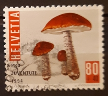 SUIZA 1994 Pro Juventute - Christmas Candles - Mushrooms. USADO - USED. - Suiza