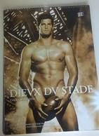 Calendrier Grand Format  30X42, Dieux Stade 2014, Rugby,  Hommes Nus, Dévêtus, 38 Pages Et Modèles, Sans Vison Sexe - Calendars