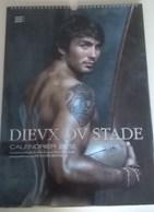 Calendrier Grand Format  30X42, Dieux Stade 2012, Rugby,  Hommes Nus, Dévêtus, 38 Pages Et Modèles, Sans Vison Sexe - Calendars