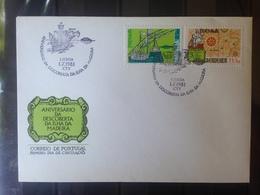 PORTUGAL  MADERE - Enveloppe 1er Jour - Série Anniversaire Découverte De L'ile De Madère - 1910-... République