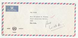 UN In ZAMBIA Via DIPLOMATIC BAG 'Pouch' LUSAKA UNDP To UN NY USA United Nations Cover - Zambia (1965-...)