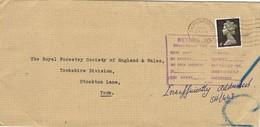 29496. Carta SALTBURN (Yorkshire) England 1960. RETURN Insufficiently Adresse - 1952-.... (Elizabeth II)