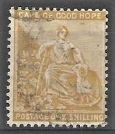 Cape Of Good Hope 1893-98. 1sh Yellow-ochre (wmk Cabled Anchor). SACC 62, SG 67. - Südafrika (...-1961)