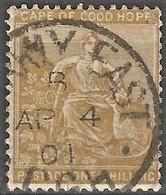 Cape Of Good Hope 1893-98. 1sh Yellow-ochre (wmk Cabled Anchor). SACC 62, SG 67. - Afrique Du Sud (...-1961)