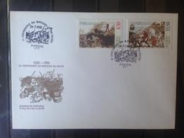 PORTUGAL  ACORES - Enveloppe 1er Jour - Série Anniversaire Bataille De Salga - 1910-... République