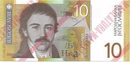 Yugoslavia 10 Dinara 2000. UNC NOT ISSUED MAKULATURA Unfinished Print Essay Trial - Yugoslavia