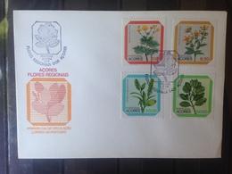 PORTUGAL  ACORES - Enveloppe 1er Jour - Série Fleurs - 1910-... République