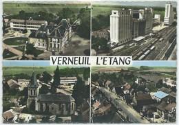 Verneuil L'Étang-En Avion Au-Dessus De ... Verneuil L'Étang-Multi-vues (CPSM) - Sonstige Gemeinden