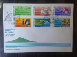PORTUGAL  ACORES - Enveloppe 1er Jour - Série Conférence Mondiale De Tourisme - 1910-... République