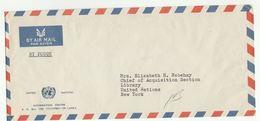 UN In SRI LANKA Via DIPLOMATIC BAG 'Pouch' COLOMBO UNIC  To UN NY USA  United Nations Cover - Sri Lanka (Ceylon) (1948-...)