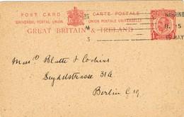 29499. Entero Postal WARRINGTON (England) 1913 To Germany - Lettres & Documents