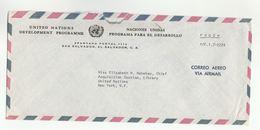 UN In EL SALVADOR Via DIPLOMATIC BAG 'Pouch'  SAN SALVADOR  To UN NY USA United Nations Cover - El Salvador