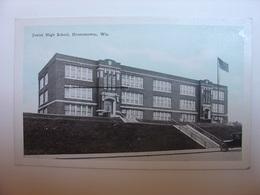 CPA USA RARE - JUNIOR HIGH SCHOOL OCONOMOWOC WISCONSIN WIS. - PUBLISHED BY HERRO'S 5 & 10c VARIETY STORE - LYCEE - Etats-Unis