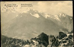36460 Belg. Congo, Circuled Stationery Card 5c. Showing  The Mountain Of Ruwenzori In The African National Park, Geology - Géologie