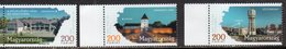HUNGARY, 2018,MNH, REGIONS AND TOWNS, 3v - Geography